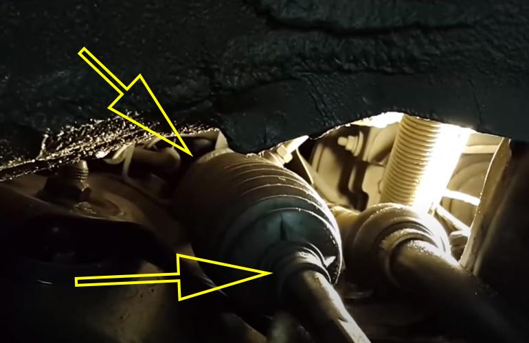 Снимаем хомуты пыльника рулевой рейки hyundai solaris